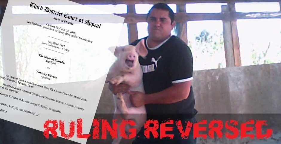 animal cruelty ruling reversed